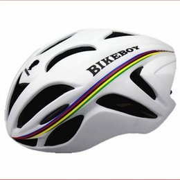 Wholesale Removable Rainbow - Pro team rainbow breathable Aerodynamic cycling helmet MTB Bike Bicycle Cycling Helmet racing Helmet Road Sports Cap Hat with Removable Brim