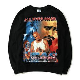 Wholesale Rap Hoodies - Tupac 2Pac Hoodies Mens Women Shakur Rap Legend 3D Printing Sweatshirts Hip Hop Casual Crewneck Pullover Sweats Male Hoodie