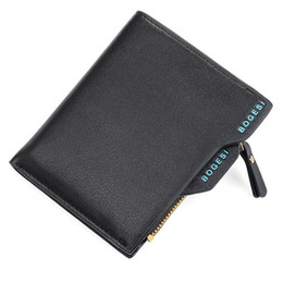 Wholesale Modern Purses - Wholesale- New simple modern fashionable Coin Purses Men's Faux Leather ID credit Card holder Clutch Bifold Coin Pursehot sale