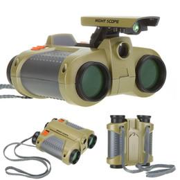 Scope binoculari online-Commercio all'ingrosso- 4 x 30 mm Night Scope Binoculars con Pop-up Light H1056 Drop Shipping Commercio all'ingrosso di trasporto libero