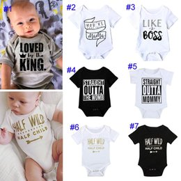0d17eacfe animal style baby clothes Coupons - 7 Style INS Baby Boy girl letters Arrow  cotton rompers