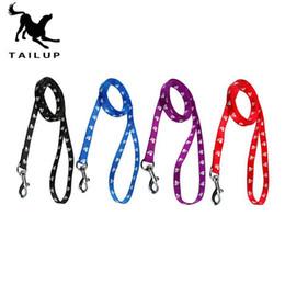 Wholesale High Walk - 120cm Long High Quality Nylon Dog Pet Leash Lead for Daily Walking 1.0cm 1.5cm 2.0cm 4 Colors 0704049