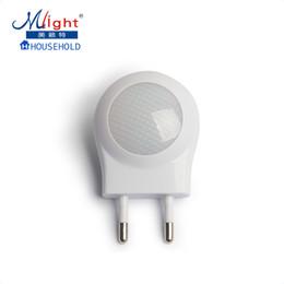 Wholesale Christmas Plug Nightlights - Mlight EU Plug Light Sensor Smart Automatic Energy Saving Nightlight LED Wall Night Light Lamp For Children Bedroom