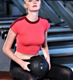 Wholesale Female Gym Clothes - Fitness Yoga Top t Shirt Short Sleeve Women Summer Running Shirt Female Workout Gym Shirts Sport Top fitness Clothing