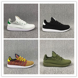 Wholesale Women X Sports - New arrive Pharrell Williams x Stan Smith Tennis HU Primeknit men women Running Shoes Sneaker breathable Boost Runner sports Shoes EUR 36-45