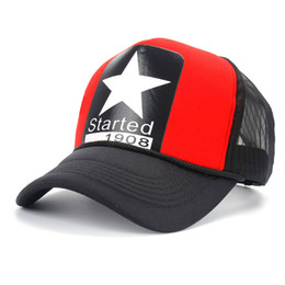 Wholesale Summer Five pointed Star Street Hooded Sponge Hats Hip Hop Snapback Baseball Cap Mesh Outer Hat New Brand Fashion