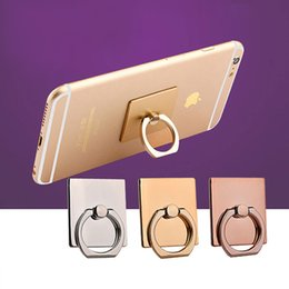 Wholesale Grip Mobile - Phone Stand Holders Colorful Ring Hook Fashion Universal Mobile Phone Ring Stent Cell Phone Ring Holder Finger Grip with Free Hook