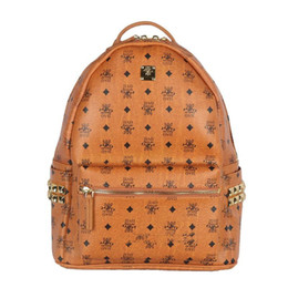 Wholesale Girl Japan Hot Style - 2018 brand hot New Arrival Fashion WomenMC summer new arrival Fashion punk rivet backpack school bag unisex backpack student bag