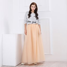 bd8fa7e379 Cheap Custom Made 100% Real Faldas Una Línea Tulle piso longitud vestidos de  fiesta de marfil largo falda plisada con cinturón
