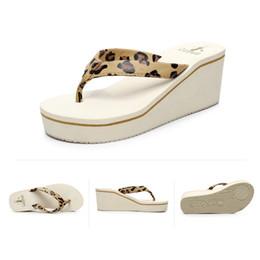 Wholesale Beach Wedge Sandals Flip Flops - Women Beach Sandals Fashion High Heels Sandals Wedges Flip Flops Platform Slippers Shoes zapatillas chinelo sandalia flats