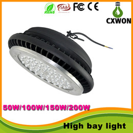Wholesale Industrial Shops - CREE 50W 100W 150W 200W Led High Bay Light UFO Bulbs Industrial Shop Lights Warehouse Supermarket Lighting