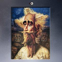 Wholesale Visions Painting - Framed visions of quixote by Mexico artist Octavio Ocampo,Pure Hand Painted Portrait Art Oil Painting On Quality Canvas.Multi sizes M001