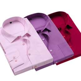 Wholesale Long Sleeve Red Formal For Men - Spring Formal Long Sleeve Casual Shirts For Men