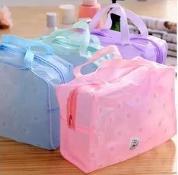 Wholesale Bath Cosmetic Bag - Cheap storage bag cosmetic bag transparent pvc waterproof bags wash bags bath products bags travel storage cases XN-C005