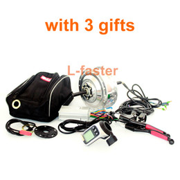 Wholesale Brushless Electric Hub Motors - 36V48V 250W Electric Bike Rear Wheel Brushless Hub Motor Kit Can Use Wuxing LCD Display Thumb Throttle For Single Freewheel Bike
