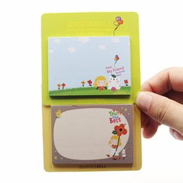 Wholesale Sticky Note Book - Wholesale- New Cute Kawaii Gracebell Girls Stationery Memo Pad Scrapbooking Sticky Notes Book Paper Sticker Bookmark Pepsi Stick