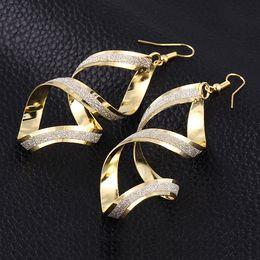 Wholesale Dangle Cross Stud Earrings - Korea fashion eardrop big rock club exaggerated cross earrings stud earrings accessories factory price free shipping