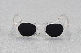 Wholesale Full Prescription - 2017 Oliver Peoples OV5186 Gregory Peck fashion round eyeglasses frames Vintage optical myopia women and men eyewear prescription sun lens