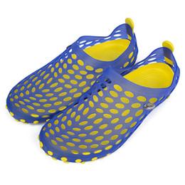 Wholesale Summer Breathable Jelly Shoes - Wholesale-Summer Casual Male Hollow Jelly Breathable Garden Slipper Shoes Men Flat Casual Sandals Men Garden Shoes Beach Sandle Plus Size
