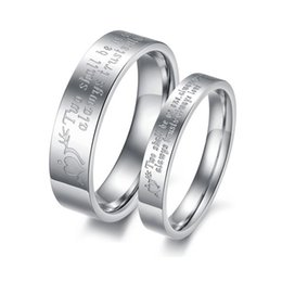 Wholesale first ring - Fashion Mens Womens Love at First Sight Love Promise Stylish Design Silver Couple Ring Lover Wedding Band