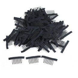 Wholesale Tools For Making Wigs - Wig clips and combs with 7teeth For Wig Cap and Wig Making Combs hair extensions tools