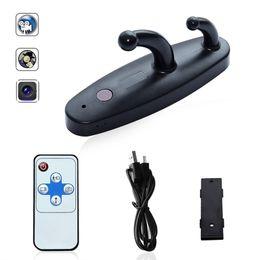 Wholesale clothes hooks spy cameras - Remote Control Spy Clothes Hook Mini DV Spy Camera HD 1080P DVR Home Security Coat Hanger Hidden Camera
