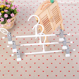 Wholesale Metal Trouser Hangers Wholesale - Durable Thick Strong White Black Plastic Coated Metal Hanger with Clips for Pants Skirt Trouser Rack ZA4865