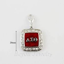 Wholesale Delta Charms - SORORITY GREEK Delta Sigma Theta DST enamel charm with lobster clasper 5pcs 1 lot