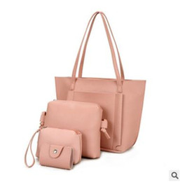 Wholesale Pu Soft Materials - 2017 Hot selling waterproofed Many colors four composite bags big totes, Cross body shoulder bag messengers with PU material Free shipping