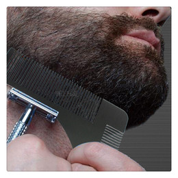 Wholesale Hair Styling Tools For Men - Hair Removal Beard Styling Shaping Template Comb Trim Tool Perfect For Lines Symmetry Beard Trim Template Beard Modelling Tools Free DHL