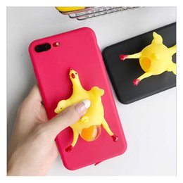Wholesale New Egg Cases - New Squeeze Chicken Lay Egg Squishy Phone Case Stress Relieve TPU Cover for Iphone 6 6s 7 plus