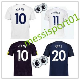 Wholesale Quality Wines - top quality 2017 2018 KANE DELE ALLI new home and away soccer jersey 17 18 ERIKSEN SON JANSSEN LAMELA football shirts
