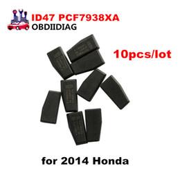 Wholesale Transponder Chip For Honda - ID47 PCF7938XA Carbon Transponder Chip For HONDA 2014 Car Key Chip 10pcs lot