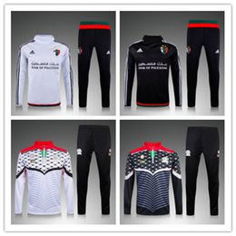 Wholesale Football Clothes - Football Jerseys Palestine white sweater tracksuit Sportswear training Suits mens Clothes Tracksuits Male Hoodies mix order free shipping
