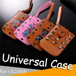 Wholesale Camera Case Pouch - Lovely Fashion Universal Leather Phone Case Luxury Portable Cases PU Pouch Bag For iPhone 7 8 X plus Samsung S8 Note8 CASIO Camera