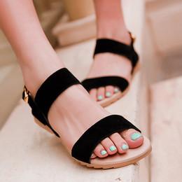 Wholesale Ladies Sandals Color Blue - Wholesale-Meotina Large size 40 43 Ladies Sandals Beach Wedge Sandals Mixed Color Women Fashion Comfort Black Shoes Red Low Heels AAB-0A