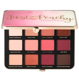 Wholesale Free Eye Shadows - 2017 Newest two face Just Peachy Mattes Eyeshadow Palette 12 Colors Eyeshadow Makeup velvet matte eye shadow palette free shipping