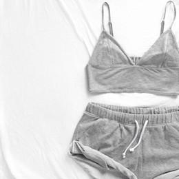 Wholesale Womens Sleepwear Shorts - Wholesale- 2017 Fashion Nightwear Set Vest + Short Pants Sleepwear Womens Casual Clothes Underwear 2PCS Pajama Sets