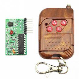 Wholesale Wireless Arduino - Wholesale- 1set IC 2262 2272 4 CH 315Mhz Key Wireless Remote Control Kits Receiver module For arduino