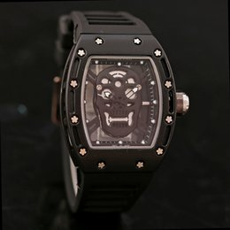 Wholesale Men Name Brand Watch - mens brand name atmos skeleton watches for men Clock Leather Strap mens gold and black watches Luxuy branded Men's Watches