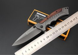 Wholesale Fa Shipping - Free shipping Browning FA - 24 quick opening folding knife 5 cr15mov blade processing Outdoor camping survival quick-opening professional to