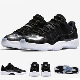 Wholesale Boy Shoes Size 13 - with box 2017 Mens and Women Retro 11 Low Barons 11S Black Basketball Shoes Out Door Sports Sneakers for Men Size US5.5-13 Euro 47
