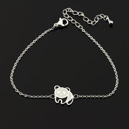 Wholesale Chinese Plate Set White - Wholesale 10Pcs lot 2017 New Promotion Fashion Bracelets Snap Jewelry Bracelets Cute Chinese Giant Panda Silver Charm Bracelets For Women