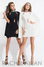 Wholesale Short Cutout Homecoming Dresses - 2017 New High Neck Satin Short Homecoming Dresses Beaded Backless Cutout Mini Party Short Cocktail Prom Dresses