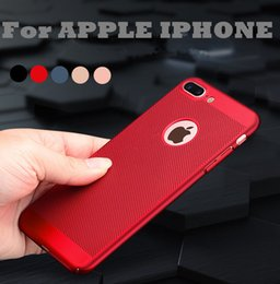 Wholesale Iphone Protective Skins - Ultra-thin Cooling Hollow Protective Hard Back Case Cover Skin For iPhone 5 5S SE 6 6S 7 8 Plus