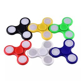 Wholesale Top Selling Adult Toys - LED Fidget Spinner Colourful Hand Spinners Top Quality Adult Decompression Toys OTH384 2017 Hot selling design