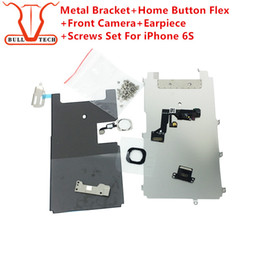 Wholesale Iphone Full Front Lcd - For iphone 6s full set lcd parts Metal Bracket Home Button Flex Front Camera Earpiece Screws Display Touch Screen Digitizer Complete Parts