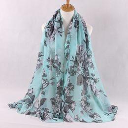 Wholesale china shawls wholesale - Wholesale-Big Size Women Shawls Scarfs womens fashion Brand Echarpe China Peony Flower Pattern Printing Scarf Cape