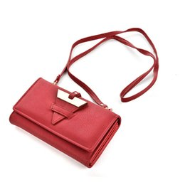 Wholesale Used Vintage - Dual Use Lady Wallets Holders Shoulder Crossbody Bag Women Vintage Clutch Phone Bag Credit Card Package Multi-bit Fashion Coin Purse VKP1411