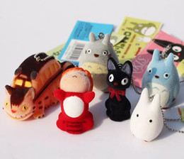 Wholesale Miyazaki Figures - HOT Japanese Hayao Miyazaki Cartoon Movie My neighbor Totoro Ponyo on the Cliff KiKis Delivery Service Figure Toy Keychains